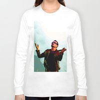 u2 Long Sleeve T-shirts featuring U2 / Bono 2 by JR van Kampen