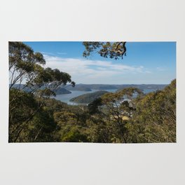 View of Hawkesbury River from Muogamarra Reserve, Sydney Rug