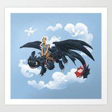 Dragon Rider Art Print