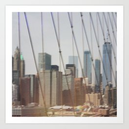 New York from Brooklyn Bridge Art Print