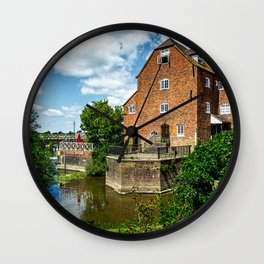 The Abbey Mill At Tewkebury Wall Clock