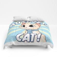 Business Cat! Comforters