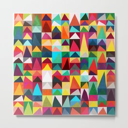 Abstract Geometric Mountains Metal Print