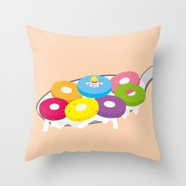 Space Odyssey | Astronaut Froot Loops | Space | Food | Breakfast | pulps of wood Throw Pillow