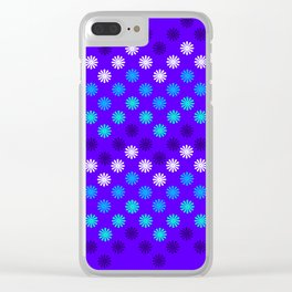 Digital Embroidery in Purple Clear iPhone Case