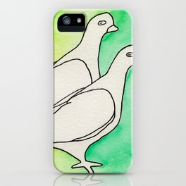 Two Birds no1 iPhone Case