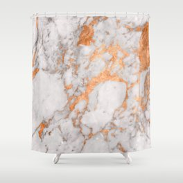 Copper Marble Shower Curtain