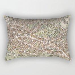 Vintage Pictorial Map of Birmingham England (1923) Rectangular Pillow