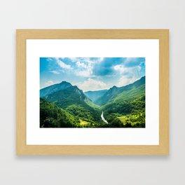 Landscape - Green Mountains  Framed Art Print