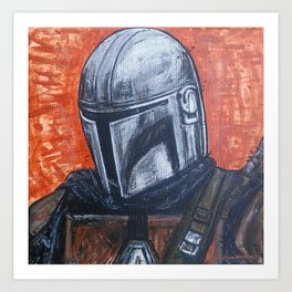 Space Helmet Guy Art Print