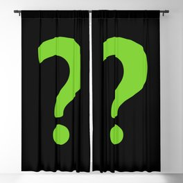 Enigma - green question mark Blackout Curtain