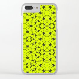 Summer Molecules Pattern Clear iPhone Case