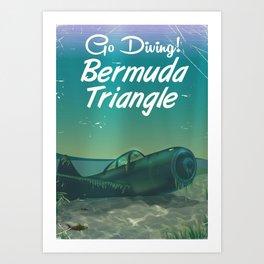 Bermuda Triangle diving poster Art Print
