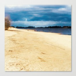 Walk on the riverside Canvas Print