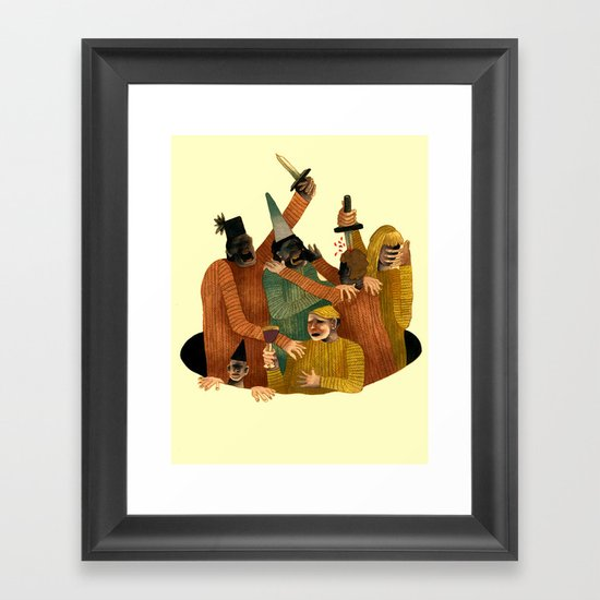 Shitty Fascist Party Framed Art Print