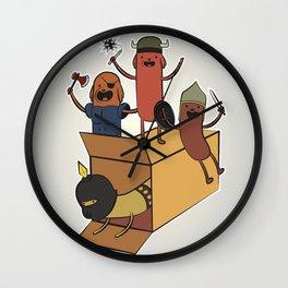 AT - Hog Dog Knights Wall Clock