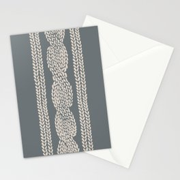 Cable Knit Grey Stationery Cards