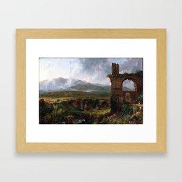 Thomas Cole A View Near Tivoli Framed Art Print