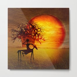 Visions of fire Metal Print
