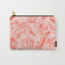 Tropical Dream Palm Leaves Deep Pink Carry-All Pouch
