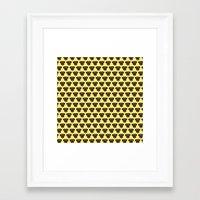 polkadot Framed Art Prints featuring Terrier Polkadot by Luke Clark