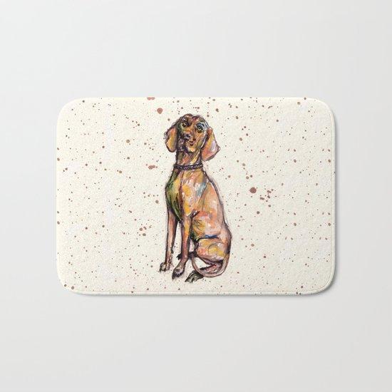 Hungarian Vizsla Dog Bath Mat