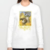 ostrich Long Sleeve T-shirts featuring Ostrich by Natalie Berman