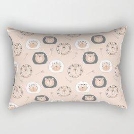 Bear & Lion festival Rectangular Pillow