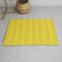 Simple design. Lines on an yellow background. Rug
