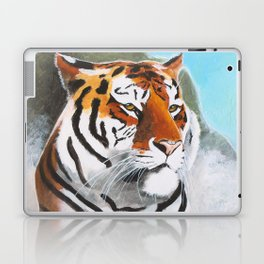 Quiet Tiger - big cat - animal - by LiliFlore Laptop & iPad Skin