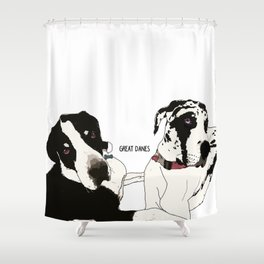 Great Danes Shower Curtain