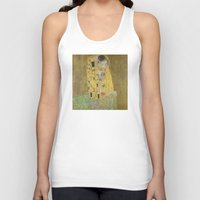 klimt Tank Tops featuring The Kiss - Gustav Klimt by Elegant Chaos Gallery