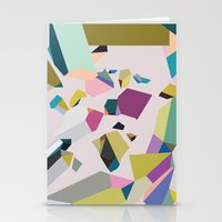crystals Stationery Cards featuring Crystals by Leandro Pita