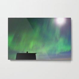 Barn Series: Northern Lights Metal Print