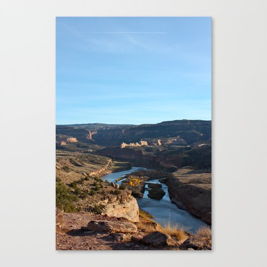 Colorado River From the Bicycle 2 Canvas Print