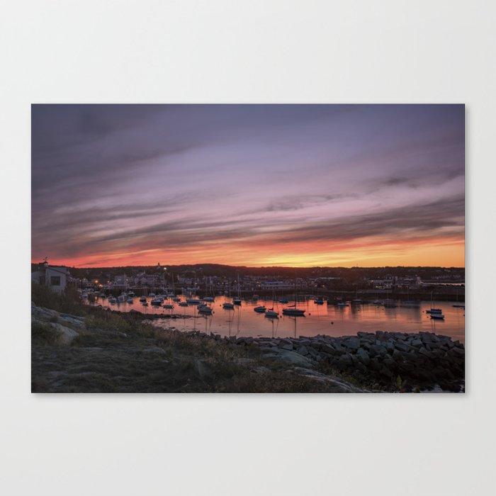 Last Rockport Sunset of Summer Canvas Print