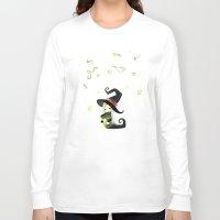 fireflies Long Sleeve T-shirts featuring Fireflies by Freeminds