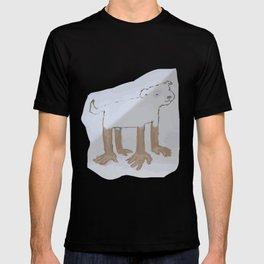 dog hand transparent T-shirt