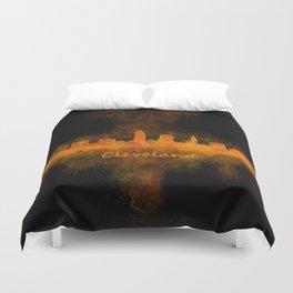 Cleveland City Skyline Hq V4 Duvet Cover
