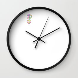 Pansexual Streetwear graphic Graffiti Hand Drawn Symbol Wall Clock