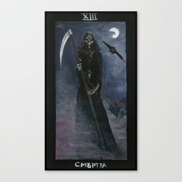 Tarot card Death XIII Canvas Print