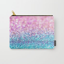 Pastel sparkle- photograph of pink and turquoise glitter Carry-All Pouch