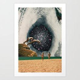 Catch the Wormhole of 3:45 PM Art Print