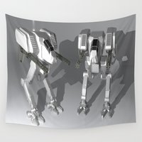 robots Wall Tapestries featuring Robots by Carlo Toffolo