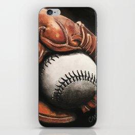 Baseball and Glove iPhone Skin