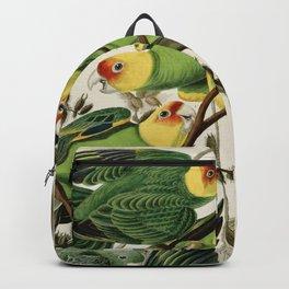 Carolina Parrot - John James Audubon's Birds of America Print Backpack