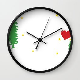 Xmas Just a Girl Who Loves Christmas Wall Clock
