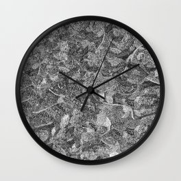 Pen and Ink Detailed Patterning Wall Clock