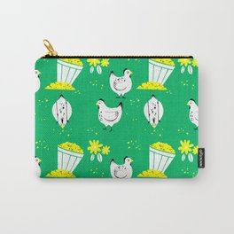 On the Farm Chicken Pattern Carry-All Pouch