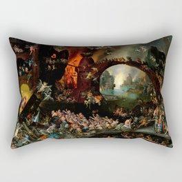 """Jan Brueghel The Elder """"Christ in Limbo"""" (Riggisberg 1593) Rectangular Pillow"""